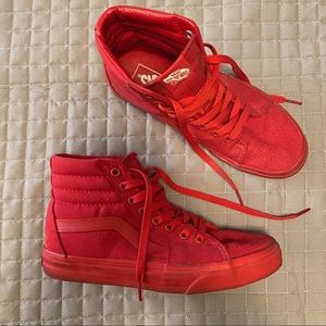 Vans High Tops Red Womens 8.5